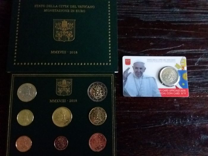 Vatican - Euro Jaarset 2018 + 50 cent coincard nr 9 oplage 60.000