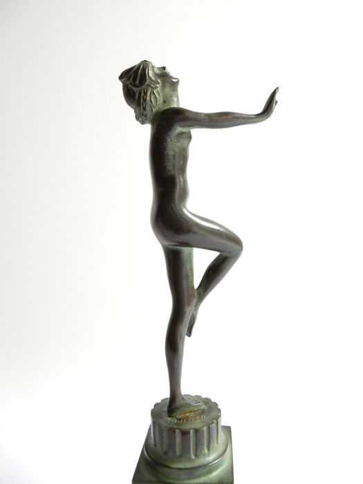 russian 1890-1966 Serge Zelikson Art Deco Bronze Sculpture