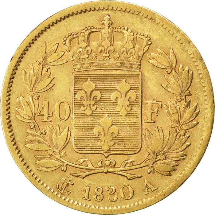 France - 40 Francs 1830 A (Paris) - Charles X - gold