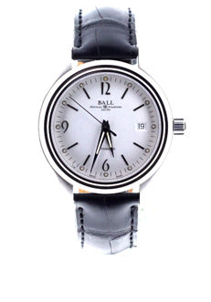BALL - Trainmaster Streamliner Automatic White Dial - NM1060D-LJ-WH - Unisex - 2018