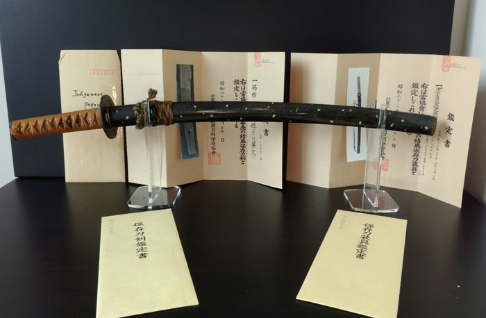 Wakizashi - Signed 'Kanesada' And NBTHK Hozon Papers For Blade And Koshirae - Japan - 17th century (Early Edo period)