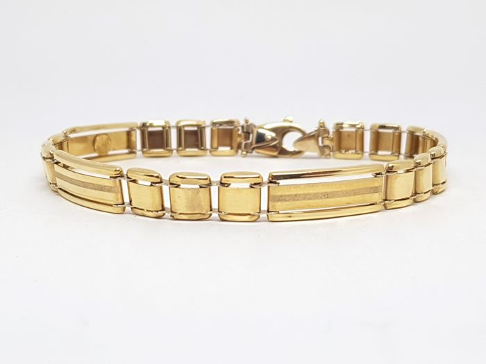 Mens Yellow Gold Bracelet  - Made In Italy - Brand New