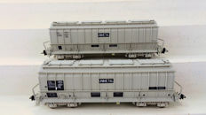 LS Models H0 - 30 050-1/30 050-2 - Freight carriage - 2 Zelflossers 'Unimetal' - SNCF