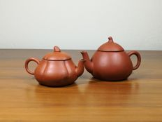 Two Yixing Miniature Teapot Meng Chen Marked Base - China/Chinese - early 20th C