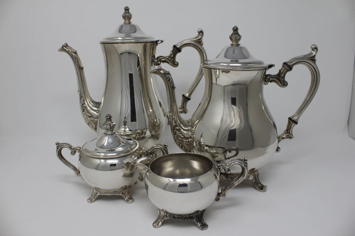 Four piece silver plated coffee and tea serving set