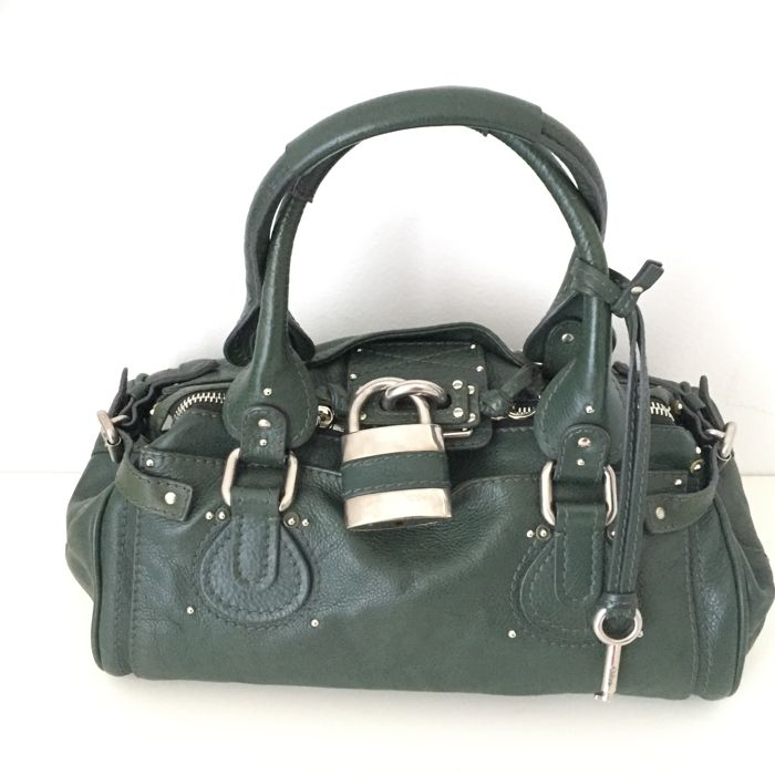 527aa23ae9 Chloé - Green Leather Paddington Handbag - Catawiki