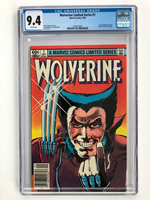 69f7f8cb3fa Marvel Comics - Wolverine #1 from Frank Miller's Famous Limited Series -  CGC Graded 9.4!!! - Very High Grade!! - 1x sc - (1982) - Catawiki