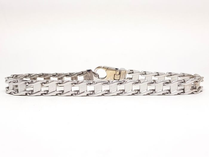 Mens White Gold Bracelet  - Made In Italy - Brand New