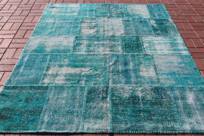 Turkish Overdyed Patchwork Rug, 172 x 243 cm