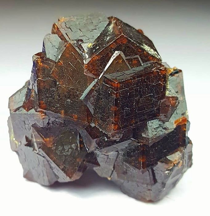 Classic and Perfect Chocolate Brown Color Andradite Garnet Cluster,37 x 35 x 23 mm, 37 Grams