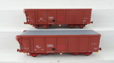 LS Models H0 - 32 018-1/32 018-2 - Freight carriage - 2 Roldak wagens type Tahms - NMBS