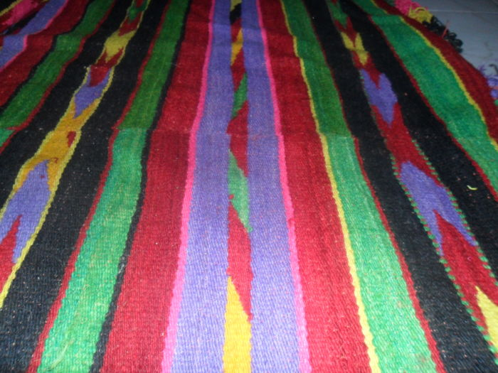 Beautiful Color Greek wool kilim Bed Spread or carpet -19th century