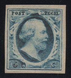 The Netherlands 1852 - King Willem III First emission - NVPH 1a, with certificate