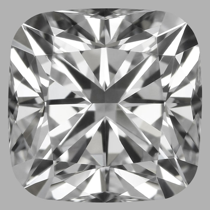Square Cushion Diamond  -1.02 CT DIF with GIA Cert -Original Image -10X -#648