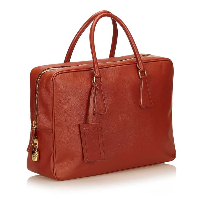 c1aa9d8be Prada - Saffiano Leather Briefcase - Catawiki
