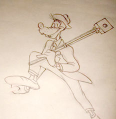 Disney Studios - Original Production Drawing - Goofy - Hold That Pose (1950)