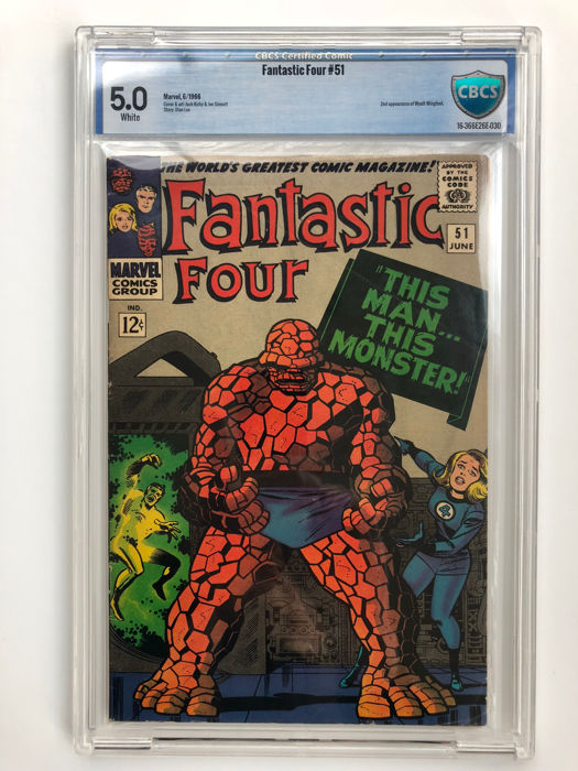 "Marvel Comics - The Fantastic Four #51 - CBCS Graded 5.0 - Classic ""this Man This Monster"" Story - 1x sc - (1966)"