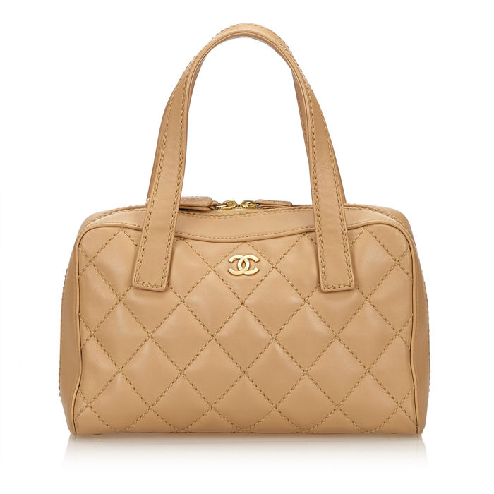 Chanel - Wild Stitch Lambskin Leather Handbag