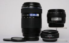 2 Olympus lenses with adapter