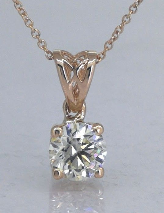 Solitaire pendant with 1 brilliant cut diamond of 0.62 ct - ***No reserve price***
