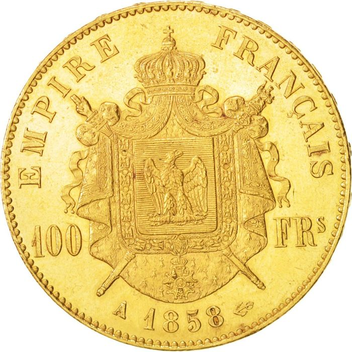 France - 100 Francs 1858 A - Napoléon III - or