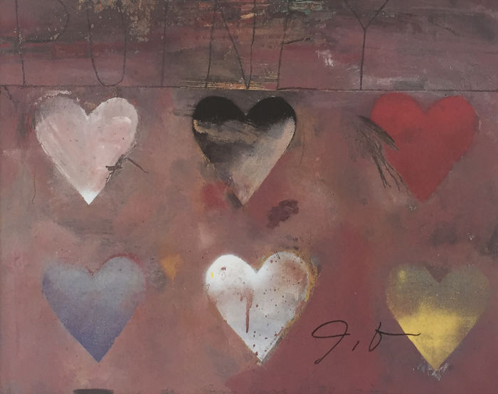 Jim Dine - Small Heart Painting n°12