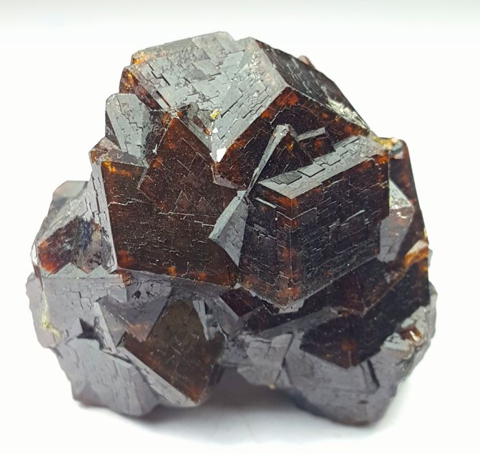 Classic and Perfect Chocolate Brown Color Andradite Garnet Cluster,  37 x 35 x 23 mm, 37 Grams