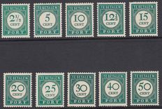 Curacao 1948 - Number and value in dark green - NVPH P34/P43