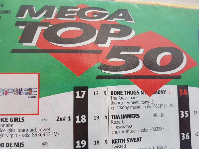"Dutch Weekly singles Chart list ""Top 50"" / ""Mega Top 100"" 1994  t/m 1998 + 1999 1 t/m 16"