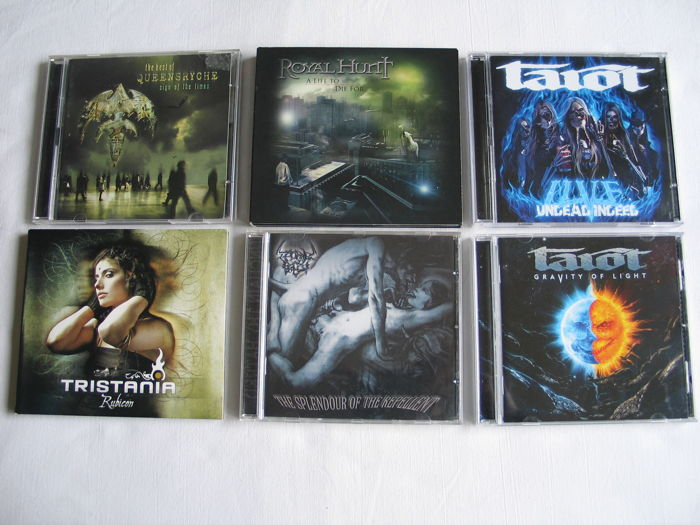 Lot of : Tarot, Thornesbreed, Tristania , Queensryche and Royal Hunt