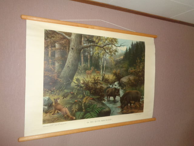 "Beautiful old school poster ""In a German mountain forest"""