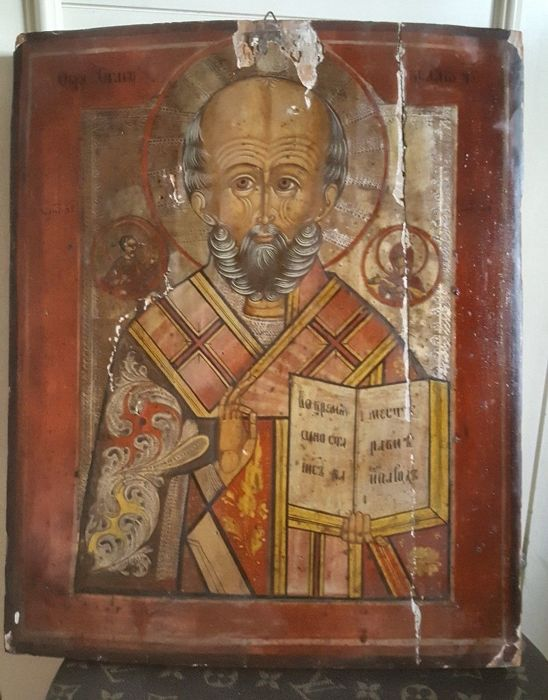 Russian icon of St. Nicholas - first half of the 19th century