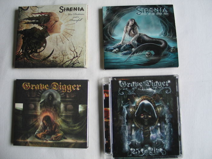 Grave Digger - CD-DVD. Sirenia CD's (special edition)