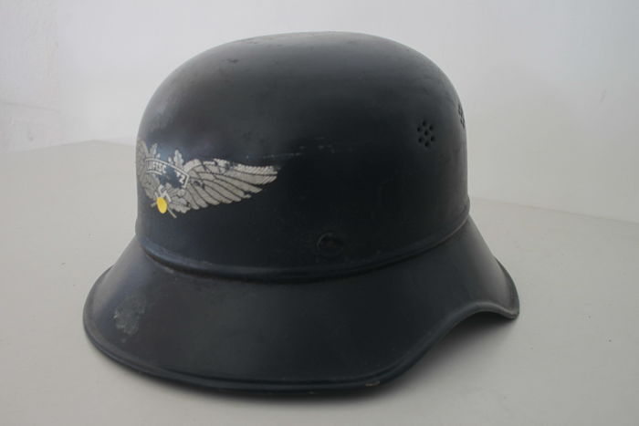German Air-Raid Protection (RLB) Gladiator Steel Helmet - German Wehrmacht - WW2