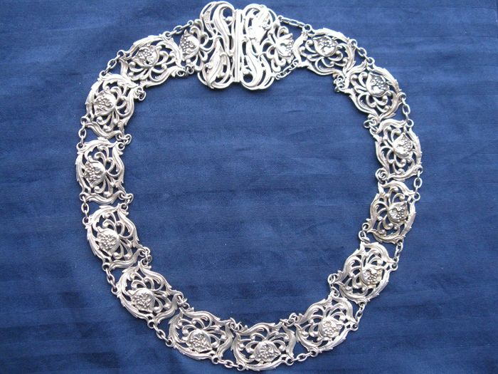 Grand Master's honour collar in 925 sterling silver - Birmingham, 1901 - silversmith Henry Synyer & Charles Joseph Beddoes - 178 g