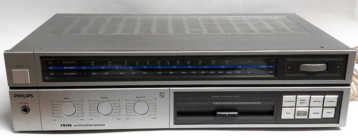vintage philips fr 140 2 classic am fm stereo receiver from 1985 rh auction catawiki com Sony Stereo Receiver Philips Stereo Amplifier