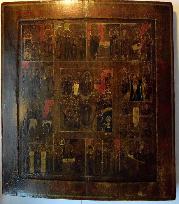 Icon great feasts of the orthodox church - Russia - around 1800