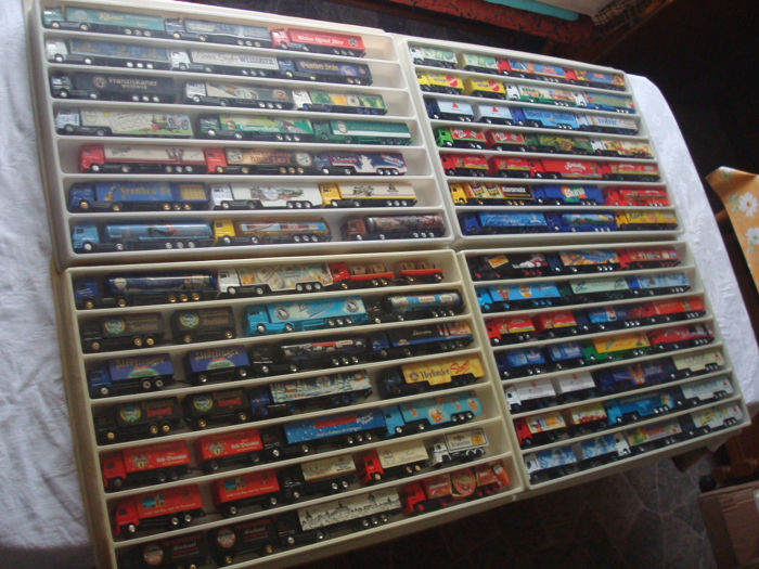 Collection - brewery trucks, advertising trucks, some rarities, in collection boxes, 85 pieces