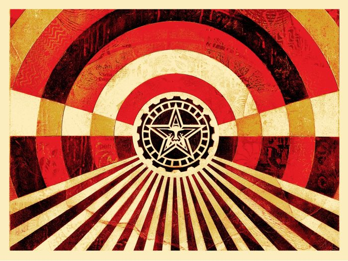 Shepard Fairey (OBEY) - Tunnel Vision (Gold) + Bonus