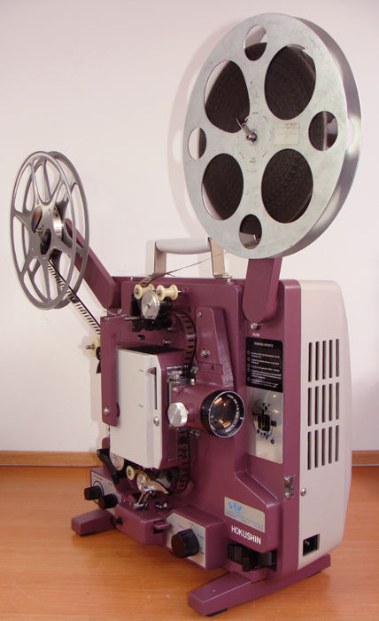 HOKUSHIN SC-10M 16 mm projector, 112 hours, with the well-known simple film threading