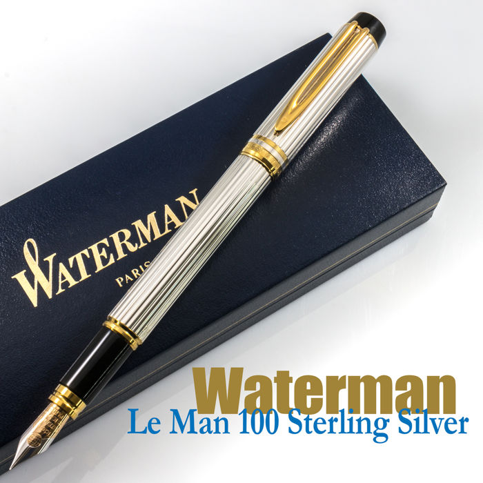 "Waterman Le Man 100 ""Godron"" Sterling Silver Fountain Pen 