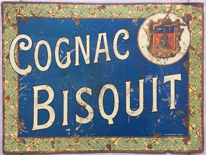 Sheet metal plate - Cognac Bisquit - 1910s