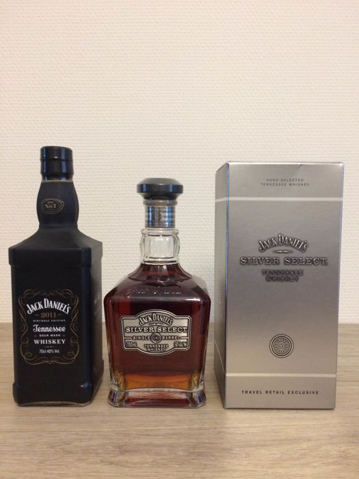 2 bottles - Jack Daniel's Birthday Edition 2001 & Silver Select