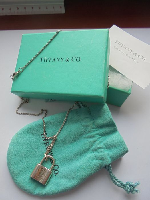 dcba264b8 Authentic Tiffany & Co. necklace Sterling silver padlock with long .925  necklace (NO