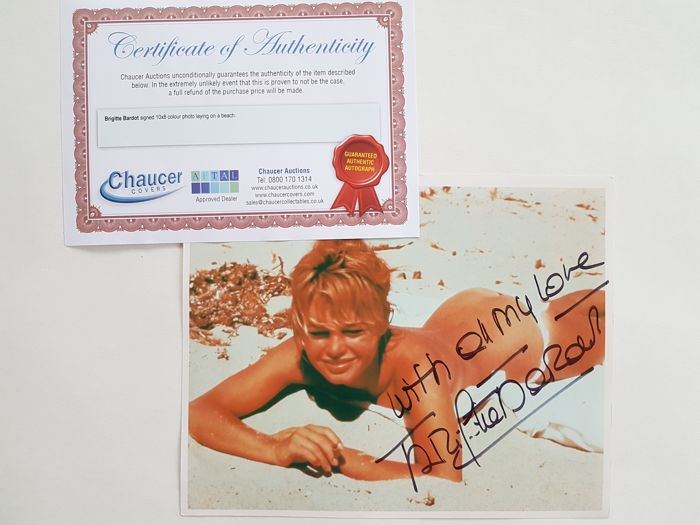 Brigitte Bardot hand signed photo (with COA)