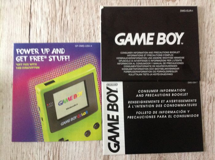 Gameboy Color with 2 Gameboy Color games and 11 Gameboy ...