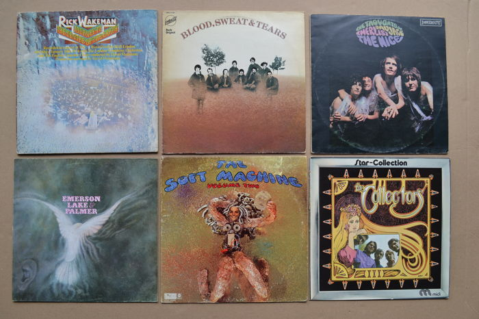 6 great LP's by Progressive-Psychedelic-Jazzrock fusion bands from the late 60's