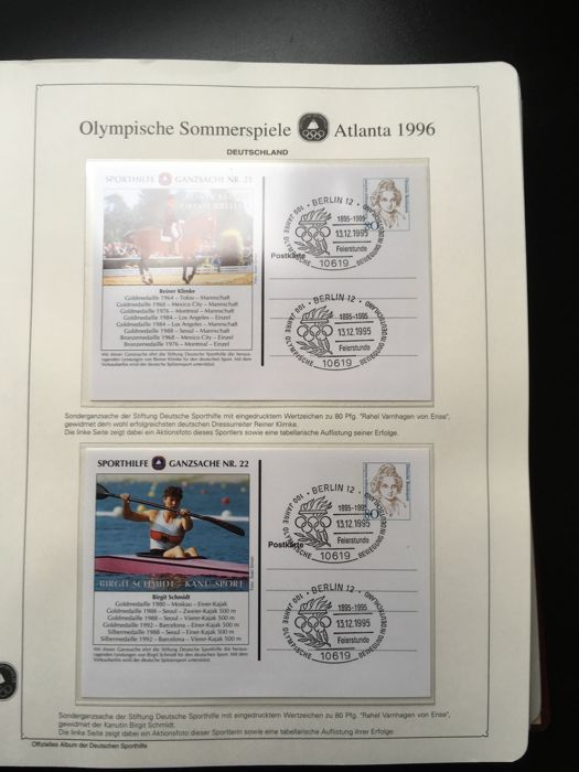 1996 Olympics - Atlanta - Thematic collection all countries in album ...