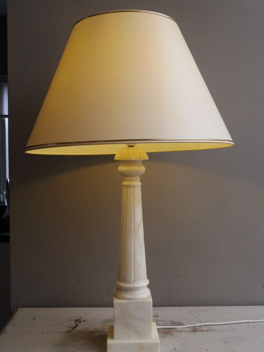Large High Floor Lamp Table Lamp With A Natural Stone
