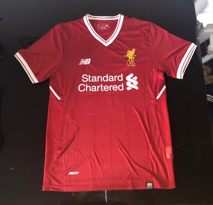 72fa5c323 Signed Mohamed Salah Liverpool Home Shirt 17 18 Proof - Catawiki